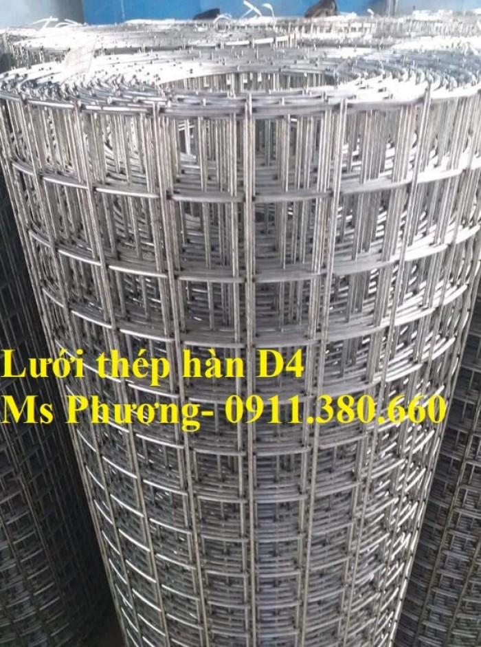 Lưới thép hàn, hàng rào lưới sắt D4 ô 200x200, ô 100x100,... hàng mạ kẽm6