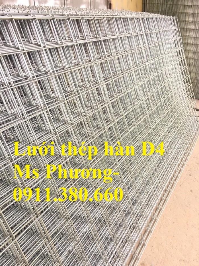Lưới thép hàn, hàng rào lưới sắt D4 ô 200x200, ô 100x100,... hàng mạ kẽm7