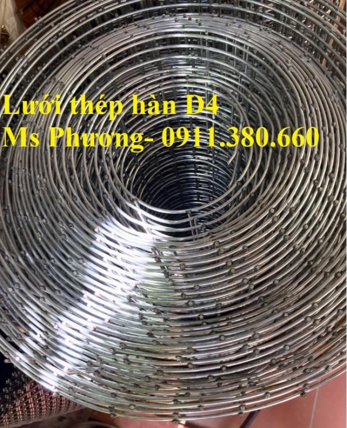 Lưới thép hàn, hàng rào lưới sắt D4 ô 200x200, ô 100x100,... hàng mạ kẽm5