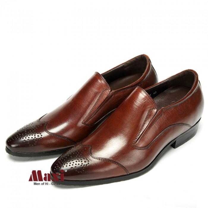 Giày nam tăng chiều cao kiểu dáng trẻ trung, da bò 100%0