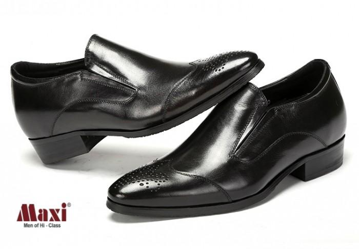Giày nam tăng chiều cao kiểu dáng trẻ trung, da bò 100%1