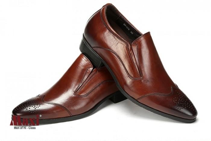 Giày nam tăng chiều cao kiểu dáng trẻ trung, da bò 100%2
