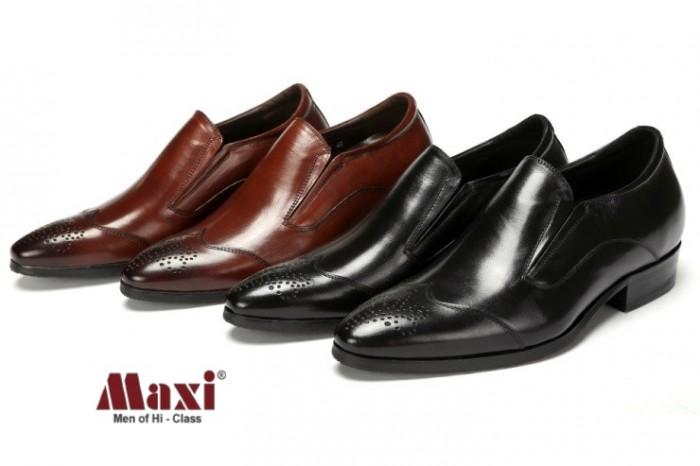 Giày nam tăng chiều cao kiểu dáng trẻ trung, da bò 100%4
