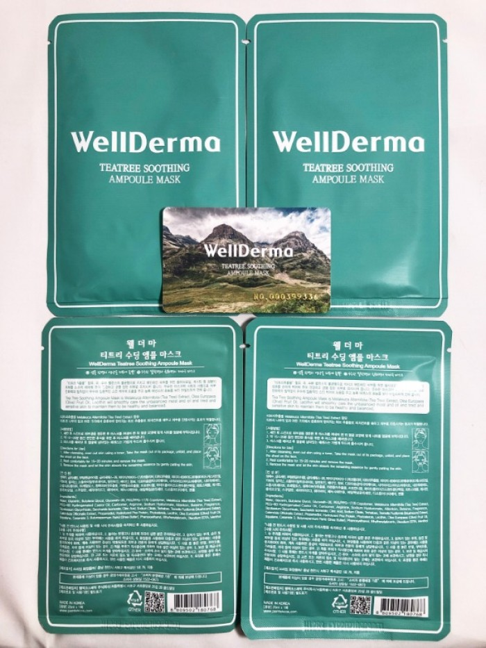Mặt nạ dưỡng Wellderma Teatree Soothing Ampoule Mask 25ml4