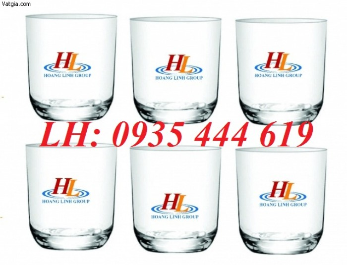 Ly thủy tinh, bộ bình ly thủy tinh các loại in logo tại Huế0