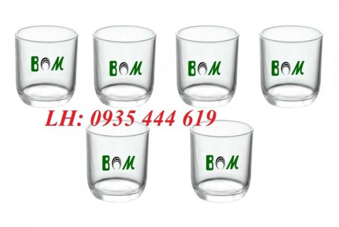 Ly thủy tinh, bộ bình ly thủy tinh các loại in logo tại Huế1
