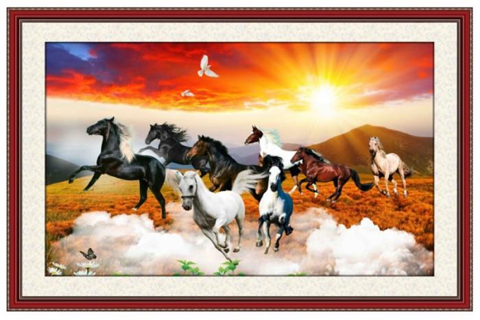 Tranh gạch ốp tường mẫu tranh ngựa 3d6