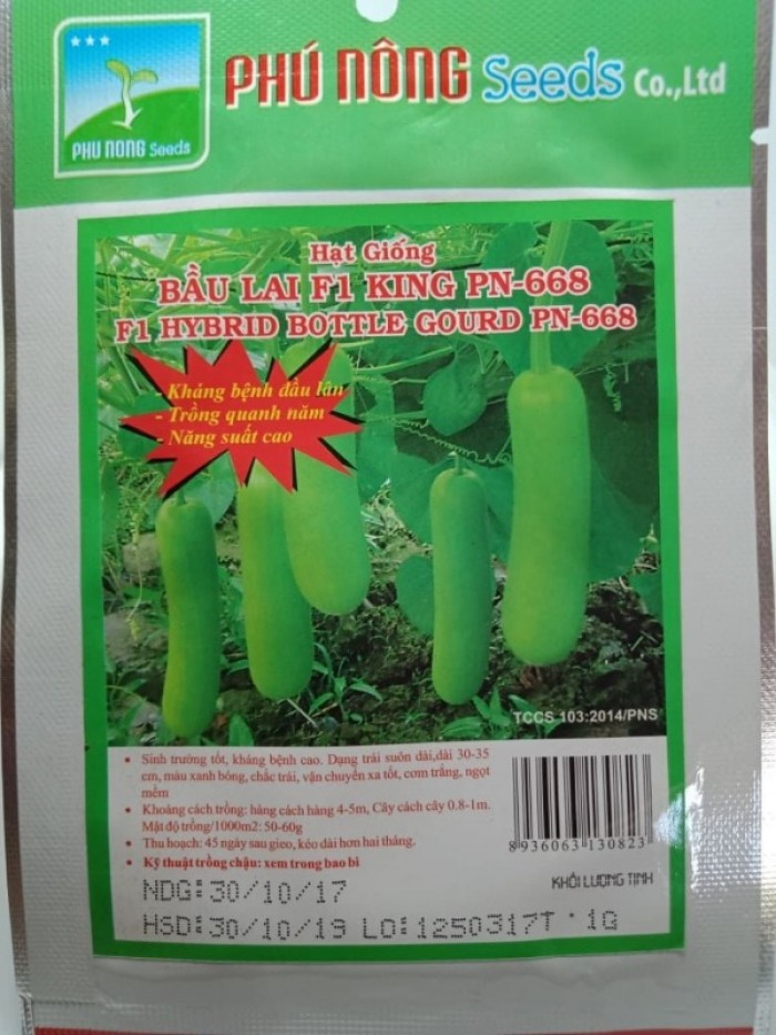Hạt giống bầu lai King Phú Nông1