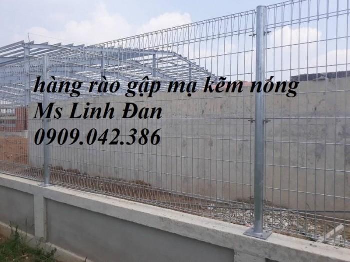 Lưới thép hàng rào gập mạ kẽm nhúng nóng, bền , rẻ, đẹp3