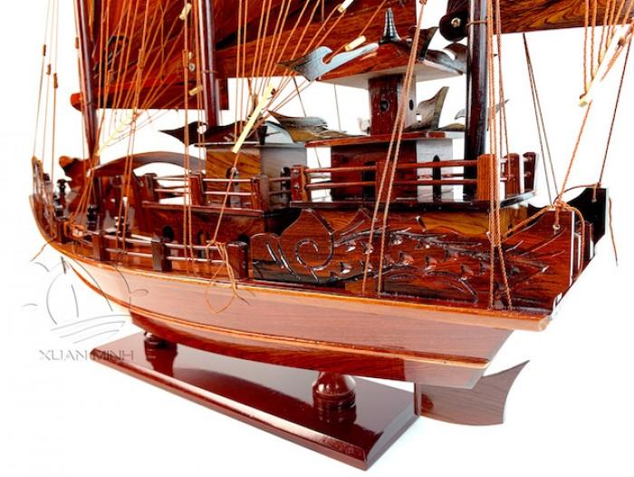 Mô hình Thuyền buồm Hạ Long Rồng - Gỗ Cẩm Lai đẹp - Size 30-40-60cm3