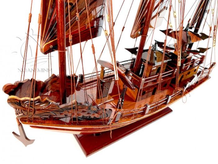 Mô hình Thuyền buồm Hạ Long Rồng - Gỗ Cẩm Lai đẹp - Size 30-40-60cm4