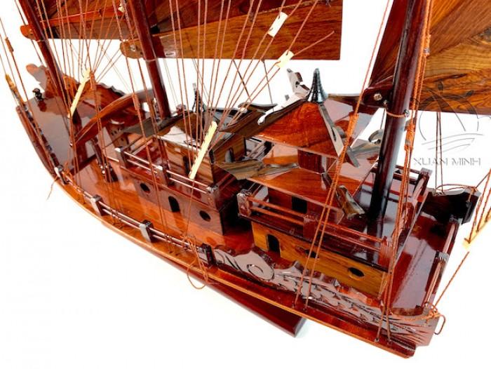 Mô hình Thuyền buồm Hạ Long Rồng - Gỗ Cẩm Lai đẹp - Size 30-40-60cm6