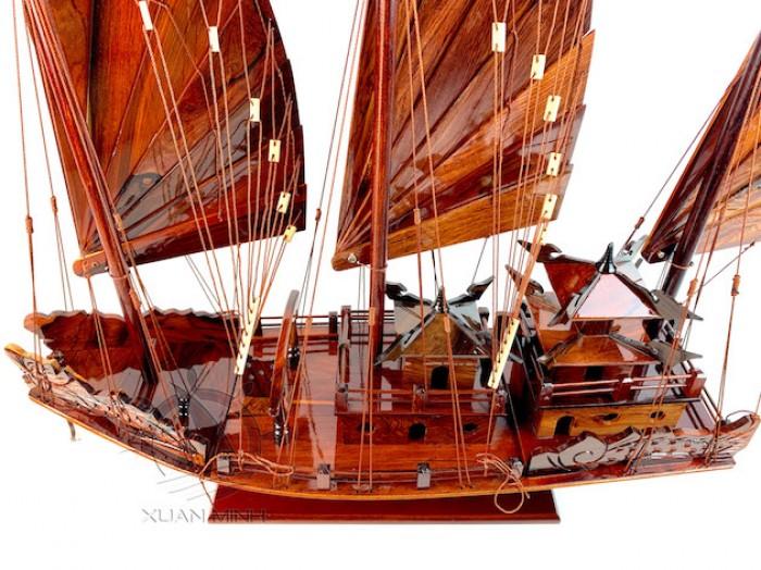 Mô hình Thuyền buồm Hạ Long Rồng - Gỗ Cẩm Lai đẹp - Size 30-40-60cm5