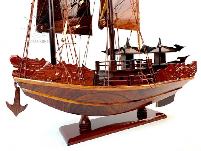 Mô hình Thuyền buồm Hạ Long Rồng - Gỗ Cẩm Lai đẹp - Size 30-40-60cm8