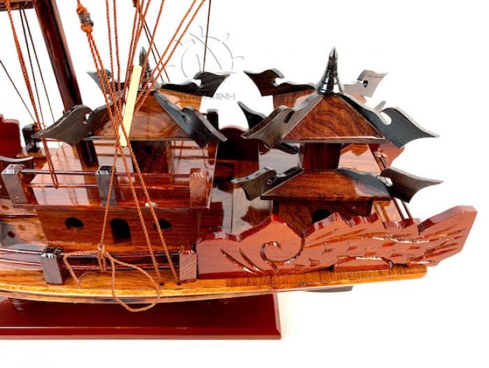Mô hình Thuyền buồm Hạ Long Rồng - Gỗ Cẩm Lai đẹp - Size 30-40-60cm9