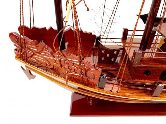 Mô hình Thuyền buồm Hạ Long Rồng - Gỗ Cẩm Lai đẹp - Size 30-40-60cm7