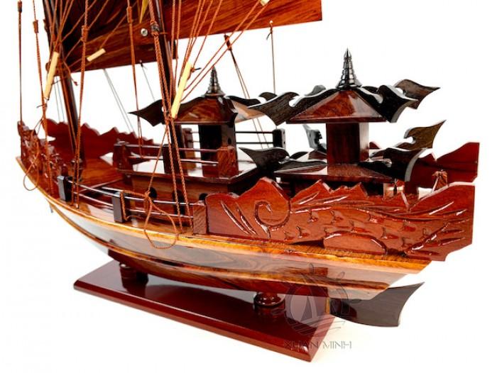 Mô hình Thuyền buồm Hạ Long Rồng - Gỗ Cẩm Lai đẹp - Size 30-40-60cm10