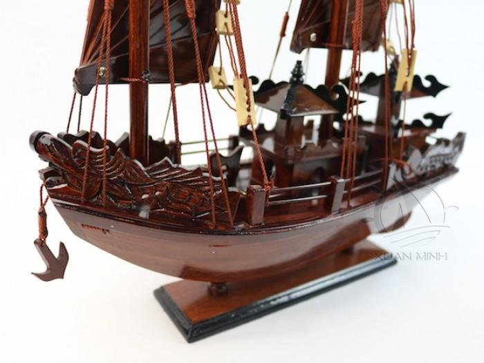 Mô hình Thuyền buồm Hạ Long Rồng - Gỗ Cẩm Lai đẹp - Size 30-40-60cm12