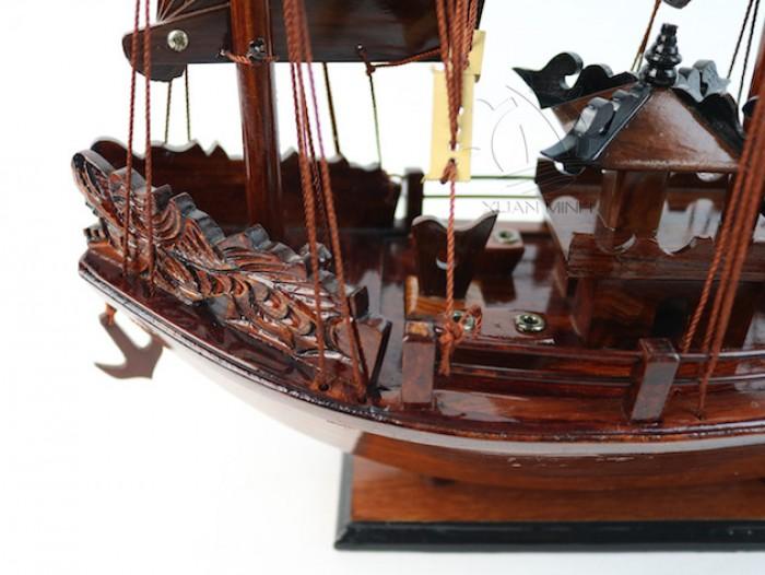 Mô hình Thuyền buồm Hạ Long Rồng - Gỗ Cẩm Lai đẹp - Size 30-40-60cm14