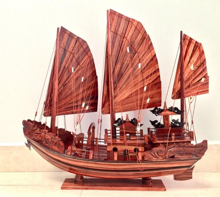 Mô hình Thuyền buồm Hạ Long Rồng - Gỗ Tràm đẹp - Size 40-60-80-100cm0