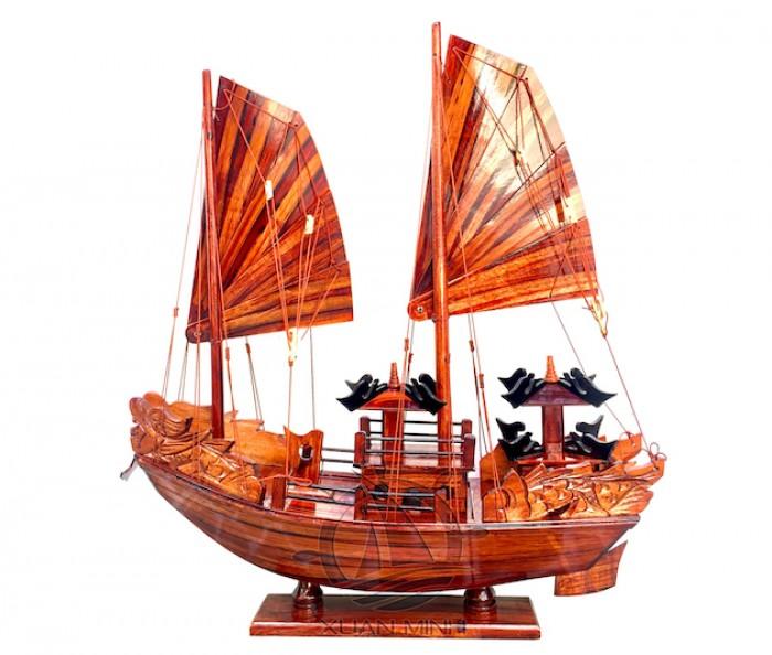 Mô hình Thuyền buồm Hạ Long Rồng - Gỗ Tràm đẹp - Size 40-60-80-100cm1