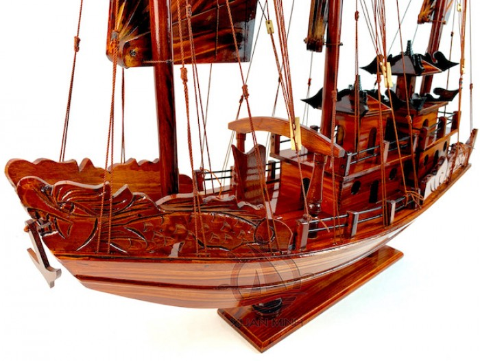 Mô hình Thuyền buồm Hạ Long Rồng - Gỗ Tràm đẹp - Size 40-60-80-100cm2