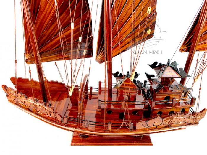 Mô hình Thuyền buồm Hạ Long Rồng - Gỗ Tràm đẹp - Size 40-60-80-100cm5