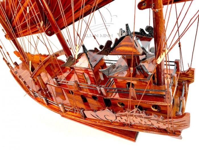 Mô hình Thuyền buồm Hạ Long Rồng - Gỗ Tràm đẹp - Size 40-60-80-100cm4
