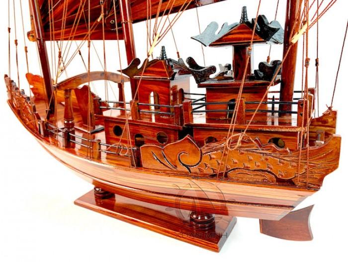 Mô hình Thuyền buồm Hạ Long Rồng - Gỗ Tràm đẹp - Size 40-60-80-100cm3