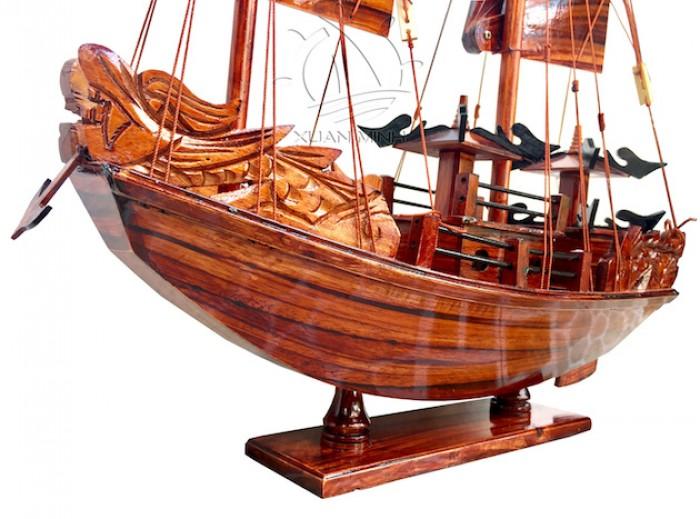 Mô hình Thuyền buồm Hạ Long Rồng - Gỗ Tràm đẹp - Size 40-60-80-100cm6