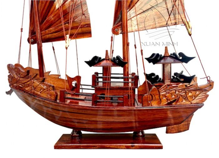 Mô hình Thuyền buồm Hạ Long Rồng - Gỗ Tràm đẹp - Size 40-60-80-100cm8