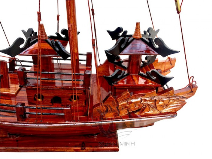 Mô hình Thuyền buồm Hạ Long Rồng - Gỗ Tràm đẹp - Size 40-60-80-100cm9