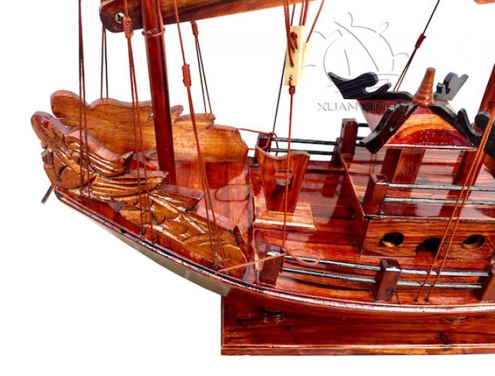 Mô hình Thuyền buồm Hạ Long Rồng - Gỗ Tràm đẹp - Size 40-60-80-100cm7