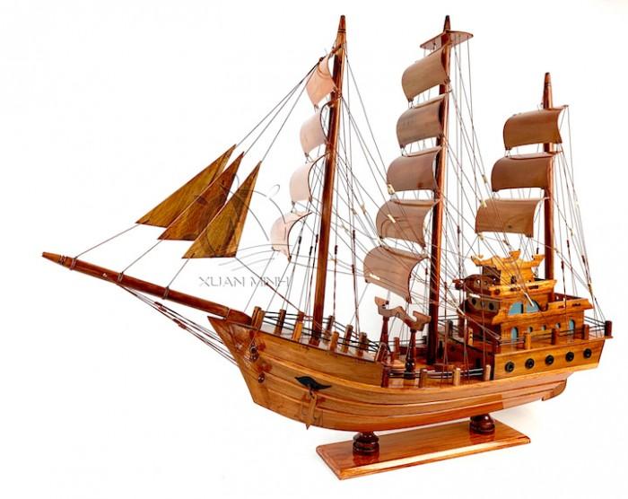 Mô hình Thuyền Buồm Tàu buôn Thái Lan - Gỗ Tràm - Size 40-60-80-100cm0