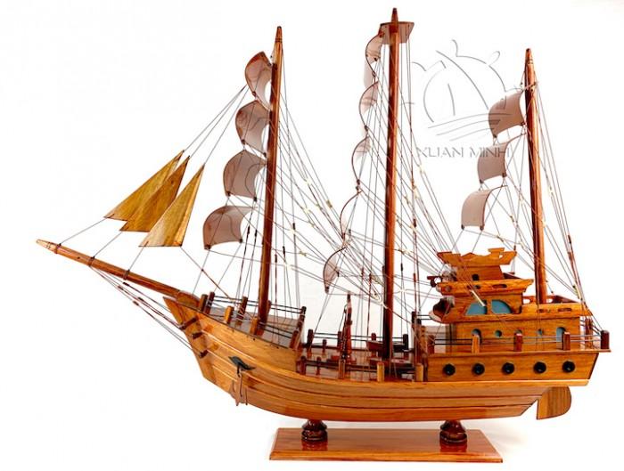 Mô hình Thuyền Buồm Tàu buôn Thái Lan - Gỗ Tràm - Size 40-60-80-100cm1