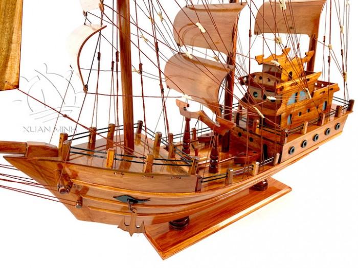 Mô hình Thuyền Buồm Tàu buôn Thái Lan - Gỗ Tràm - Size 40-60-80-100cm2