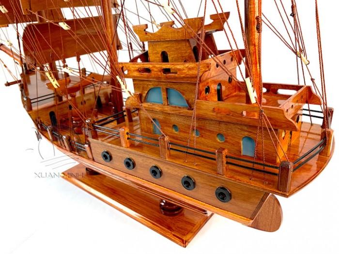 Mô hình Thuyền Buồm Tàu buôn Thái Lan - Gỗ Tràm - Size 40-60-80-100cm4