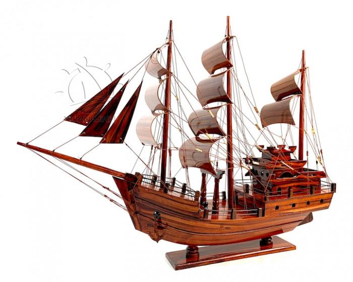 Mô hình Thuyền Buồm Tàu buôn Thái Lan - Gỗ Tràm - Size 40-60-80-100cm5