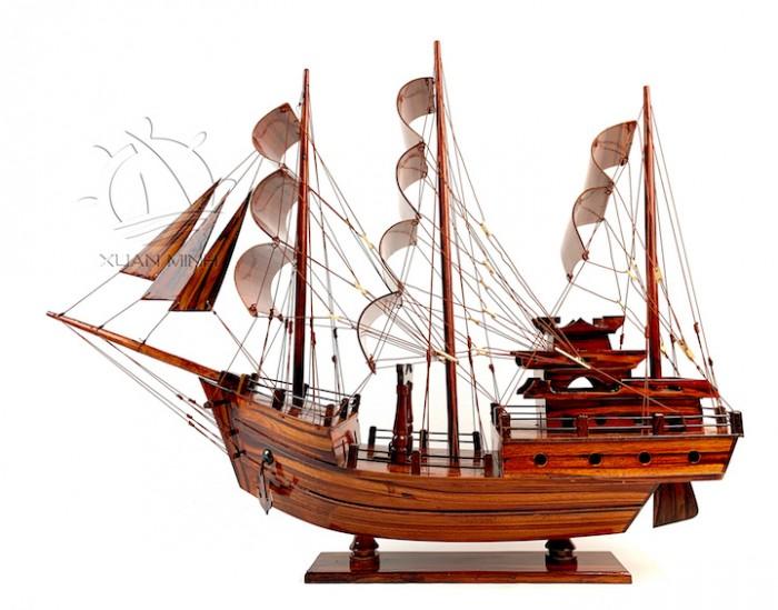 Mô hình Thuyền Buồm Tàu buôn Thái Lan - Gỗ Tràm - Size 40-60-80-100cm6