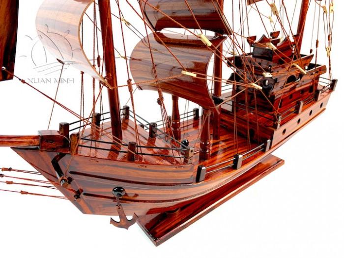 Mô hình Thuyền Buồm Tàu buôn Thái Lan - Gỗ Tràm - Size 40-60-80-100cm7