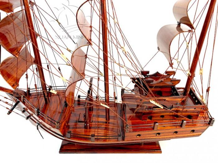 Mô hình Thuyền Buồm Tàu buôn Thái Lan - Gỗ Tràm - Size 40-60-80-100cm9