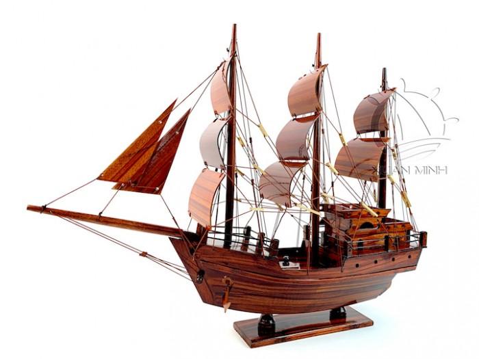 Mô hình Thuyền Buồm Tàu buôn Thái Lan - Gỗ Tràm - Size 40-60-80-100cm11