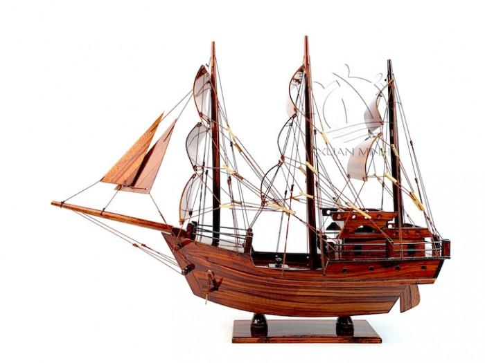 Mô hình Thuyền Buồm Tàu buôn Thái Lan - Gỗ Tràm - Size 40-60-80-100cm10