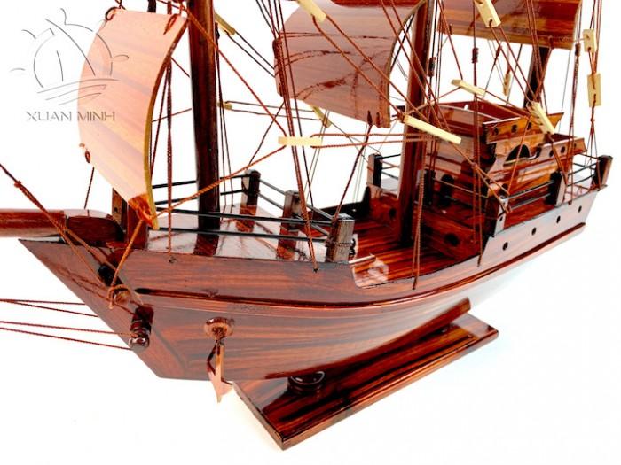 Mô hình Thuyền Buồm Tàu buôn Thái Lan - Gỗ Tràm - Size 40-60-80-100cm12