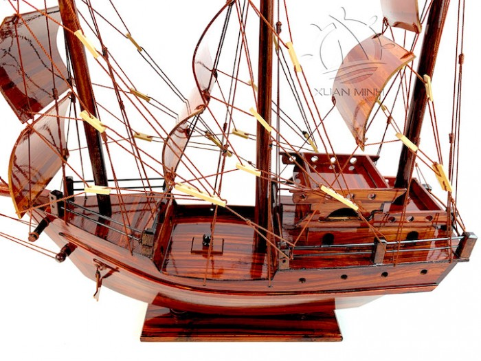 Mô hình Thuyền Buồm Tàu buôn Thái Lan - Gỗ Tràm - Size 40-60-80-100cm13