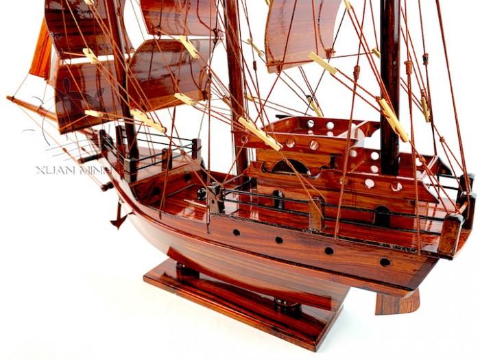 Mô hình Thuyền Buồm Tàu buôn Thái Lan - Gỗ Tràm - Size 40-60-80-100cm14