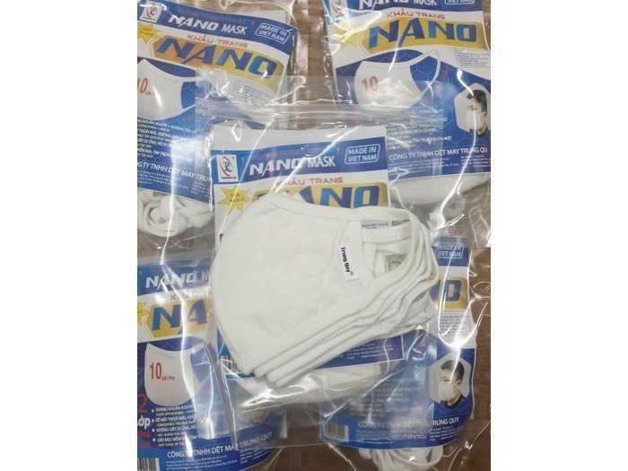 Khẩu trang kháng khuẩn nano 2 lớp0