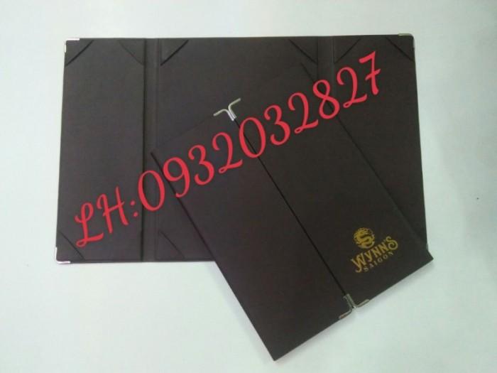 Nhận sản xuất cuốn menu da, cuốn thực đơn da, làm quyển menu da giá rẻ,3