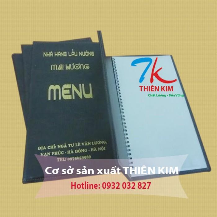 Xưởng may và gia công Bìa menu, Bìa simili, Bìa da giá rẻ1