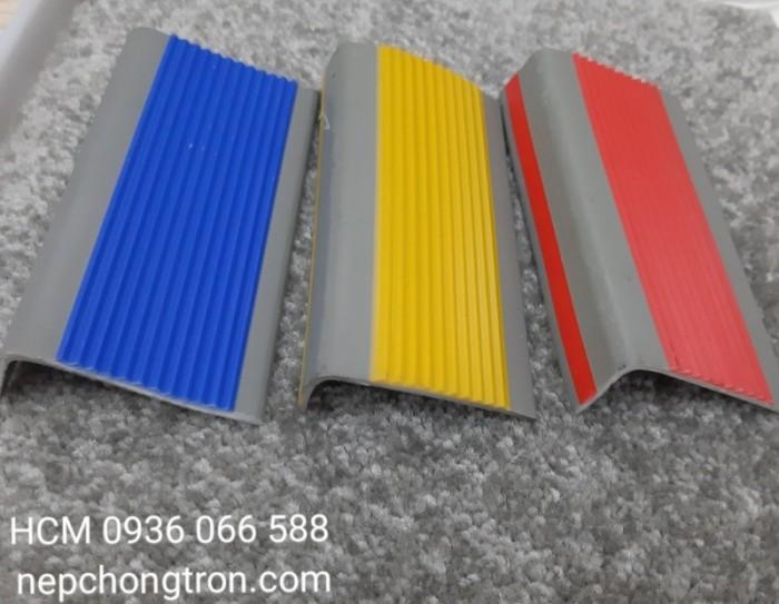 Nẹp nhựa chống trơn PVC, Nẹp mũi bậc, ốp mũi bậc cầu thang0